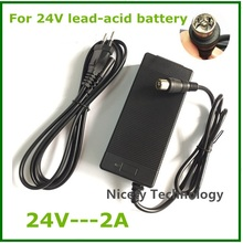 Buy 24V 2A lead-acid battery Charger electric scooter ebike charger wheelchair charger golf cart charger RCA metal connector for $15.90 in AliExpress store