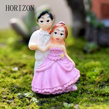 New 1PCS Figurines Miniature Dancing Couple Doll Resin Crafts Ornament Fairy Garden Gnomes Moss Terrariums Home Decorations