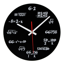 Hot Sale Acrylic Wall Clock Maths Equation Modern Design Portugal Euro Novelty Art Unique Watch Clock Home Decoration Accessorie(China)
