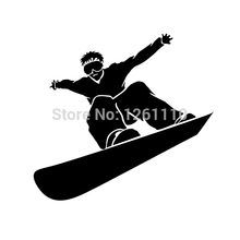 50 pcs/lot SNOWBOARDING Window Wall DECAL Snow board Vinyl Car STICKER Laptop Wall SUV Truck Car Window Bumper 8 Colors