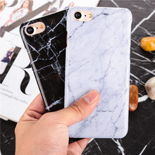 Marble Pattern ultra thin plastic back Cover stone Texture Hard PC Phone Cases For iPhone 6 6S 6plus 7 7 Plus 5 5S SE case Coque(China)