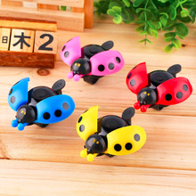 Lovely Kid Beetle Ladybug Ring Bell For Cycling Bicycle Bike Ride Horn Alarm free shipping(China)