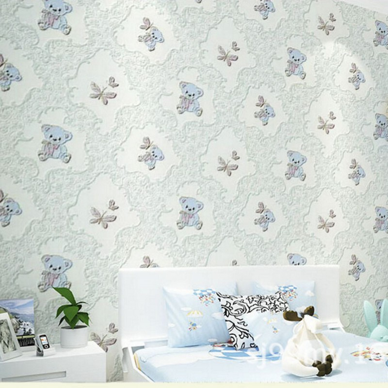 Beibehang  3D wallpaper cartoon bear childrens room wallpaper bedroom living room background wallpaper for walls 3d papel tapiz<br>