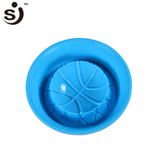 Silicone Mold Blue Bowl With Basketball Bottom Shaped Cake Mold High Capacity Baking Bakery Tools & Kitchen Cooking(China)
