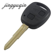 2 Button Remote Car Key Fob Shell Case For Toyota Yaris TOY41 Uncut Blade With Rubber Button Pad