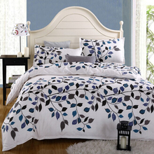 100%Cotton Home textile,Reactive Print 4Pcs bedding sets luxury Duvet Cover Bed sheet Pillowcase,King/Queen/Full size, bed linen