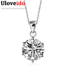 50% off Crystal Perfume Women Necklace Valentine's Day Gift Necklaces New 2017 Neckless Best Friends Pendant Collares Ulove N321(China)