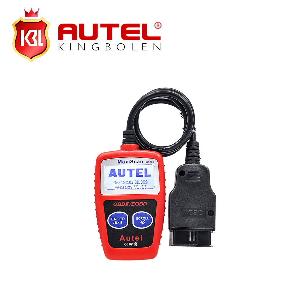 Super Autel MaxiScan MS309 CAN BUS OBD2 Code Reader OBD2 OBD II Car Diagnostic Tool Autel MS 309 Code Scanner(China)