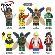 Single Sale Super Heroes Aquaman Reverse-Flash Parademon Green Lantern Booster Gold Building Blocks Children Gift Toys X0177(China)