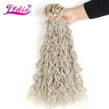 "Lydia For Women Synthetic Curly Weave 3 Packs/Lot 18""20"" Nature Color Water Wave Hair Bundles Jerry Curl Hair Extension(China)"