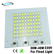 10pcs 30W 40W 220V Flood Light LED PCB SMD5730 Lamp Plate, Integrated IC Driver, Directly Needn't Driver Light Source Panel