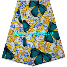 Wholesale!African prints ankara fabric 6 yards super wax hollandaise 100% cotton for clothing !LINS04