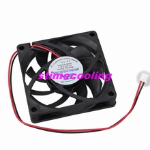 2pcs/lot 12volt 2pin 7cm 70mm 70mmx15mm Ventilation Fresh Air DC Fan 7015s