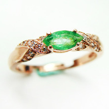 2017 Natural Colombia Emerald Ring 925 Sterling Silver Gemstone Jewelry Women Fine Jewelry Green Charm ring Mariques horse eye