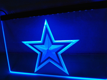 LA127b- Dallas Cowboys Bar Pub Beer Logo LED Neon Light Sign(China)