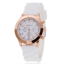 Fashion Unisex Jelly Watches Men Women Stainless Steel Round Dial Analog Quartz Sport Wrist / Ion Silicone Band Watch Relogio(China)