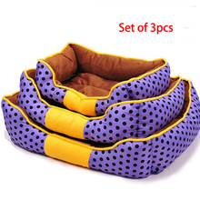 Hot Selling Set of 3pcs Winter Warm Pet Beds Dog Cat Puppy House Three Size Offer, JSF-Beds-014