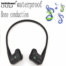kebidumei 2017 new generation waterproof mp3/8GB bone conduction waterproof underwater swimming headset MP3 Player high quality(China)