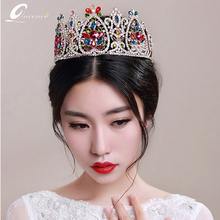 Luxury High-End Wedding Big Round Crown Hair Accessories Luxury Bridal Jewelry Tiara Bridal Wedding Accessories Imperial Diadema