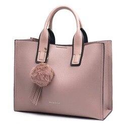 Женская кожаная сумка с кисточкой