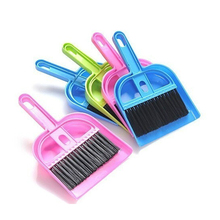 Hot 1 Set Plastic Mini Brush Dustpan Broom Duster Dust Brushs DashBoard Keyboard Computer Cleaning Cleaner Tools Home Supplies(China)