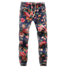 Fashion Oversize 5XL Spring Summer Men Cotton and Linen Pants Mid Waist Full Length Feet Sweatpants Beam Foot Joggers Trousers(China)