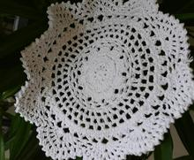 Cotton placemat cup coaster mug holder kitchen Tableware Handmade table place mat cloth lace round Crochet doily kids dining pad