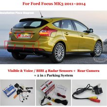 Liislee For Ford Focus MK3 2011~2014 - Car Parking Sensors + Rear View Back Up Camera = 2 in 1 Visual Alarm Parking System(China)