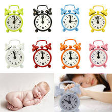 New Home Outdoor Portable Cute Mini Cartoon Dial Number Round Desk Alarm Clock SF344(China)