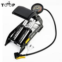 SAHOO Bicycle MTB Bike Aluminum alloy Foot Air Pump Portable High-Pressure Steel No-Slip Pump For Bicycle Car Tire Bicicleta