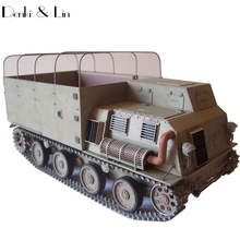 1:25 3D Japanese Transport Truck Paper Model Second World War Assemble Hand Work Puzzle Game DIY Kids Toy Denki & Lin