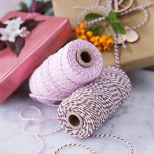110yard/spool Cotton Bakers twine Christmas Twine Industrial Packing Materials Durable String for Gardening Applications(China)