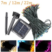 7M/12M/22M Solar Lamp led Fairy String Lights Solar Power Outdoor solar Lighting Waterproof For street Garden party Light