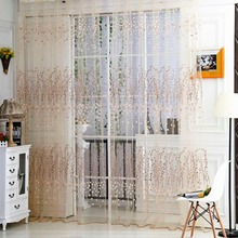 "2016 New Floral Tulle Curtain for Lining Room Window Door Balcony Lifting Sheer Wintersweet Curtain 39.3""*78.6""(China)"