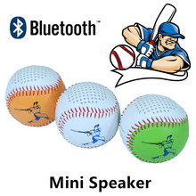 Colorful Baseball Bluetooth speaker mini subwoofer Strong Bass wireless phone home theater music audio player USB charge line in