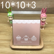 100pcs/pack Cartoon Lovely Dessert Cake Cookie Biscuits Bag Candy OPP Plastic Self-Adhesive Bag Baking Package Supplies