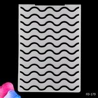 Волнистый узор Пластик Тиснение папка для Скрапбукинг Бумага Craft DIY карты решений украшения поставки