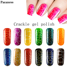 Paraness Lucky Colour Gel Lacquer Professional Crack Shatter Cheap Gel Cracking Nail Varnish 7ml Brand Lasting Gel Polish(China)