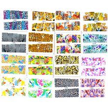 48Sheets Sexy Leopard Pattern Nail Art Water Transfer Stickers Tiger Snakeskin Decals DIY Decor Manicure Tools LAXF1470-1517
