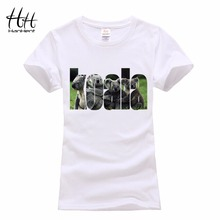 HanHent Cute Koala Body Women T-shirts Tops Short Japan Fashion Funny T shirt Woman T-shirt Ladies Animal Print Camisetas Mujer(China)