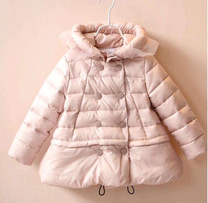 YP30885286 Retail 2015 New  Winter Fashion Baby Girl Parkas Solid Hooded Kid Jacket Girl Outerwear Worm Girl CoatОдежда и ак�е��уары<br><br><br>Aliexpress