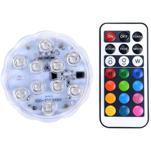 10pc LED Coral Reef Grow Light High Power Fish Tank Lamp LED Bulbs RGB Remote Controll Led Aquarium Lights 4W SMD3528(China)