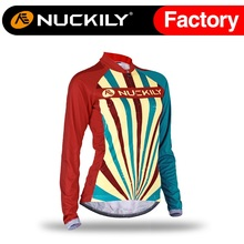 Nuckily Women's Winter China simple design jersey high quality cycle fleece thermal polyester jacket  GE005