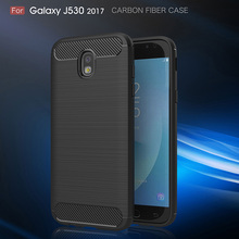 Newest Case For Samsung Galaxy J5 2017 Luxury Carbon Fiber Anti-drop TPU Soft Cover For Samsung J5 2017 J530 Back phone case(China)