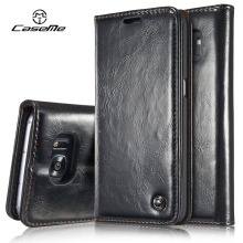 For Samsung Galaxy S7 Case edge Flip Wallet Leather Cover Luxury Full Phone Protective Black Brown Cases for Samsung S7 edge Coq