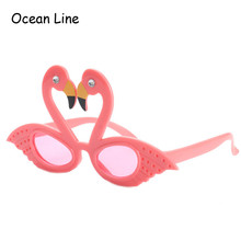Funny Pink Flamingos Ornaments Costume Glasses Novelty Flamingo Birthday Favors Festive Party Supplies Decoration Accessories
