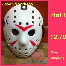 Black Friday NO.13 Jason Voorhees Freddy hockey Festival Party Mask With Red Line 100gram PVC For Halloween Masks Free Shipping