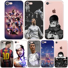 Phone Case C Ronaldo Messi Neymar Barcelona Soccer Jersey for iphone 5s 6s 7 6 plus SE 5 Soft Transparent Soft Silicon tpu Clear(China)