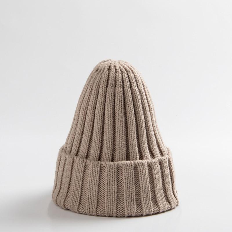 Knitted Kids Beanie Cap Infant Newborn Baby Boy Girl Hat Warm Childrenx Baby Autumn Winter Girls Hat For Kids Toddler Bonnet Cap 9