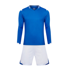 Free Shipping 2017 New Kids Boys Youth Long Full Sleeve Soccer Sets School Students Football Team Clubs Jerseys Uniforms Custom